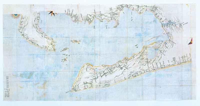 大日本沿海輿地全図 大図 渥美半島付近