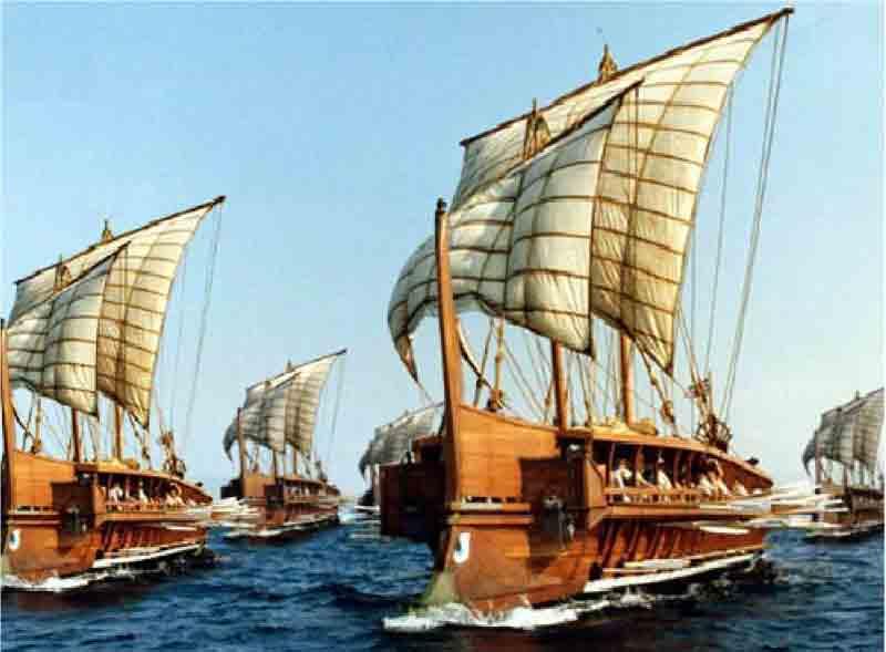 ギリシアのガレー船