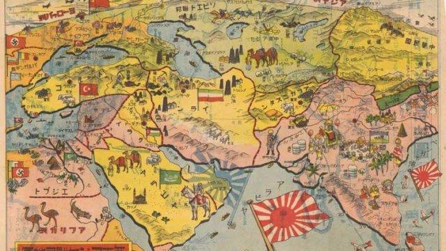 西南アジヤ戦局地図の画像